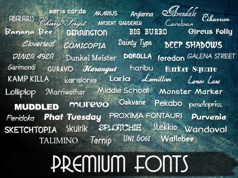 Commercial Use Fonts for Windows and Mac | Free Fonts | Premium Fonts
